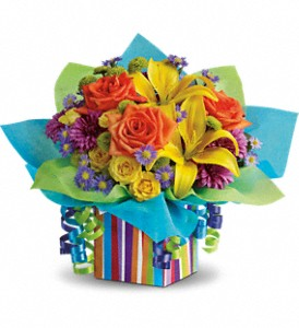Teleflora's Rainbow Present in Oklahoma City OK, Array of Flowers & Gifts