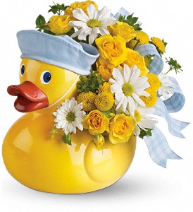 Teleflora's Ducky Delight - Boy in Corpus Christi TX, Tubbs of Flowers