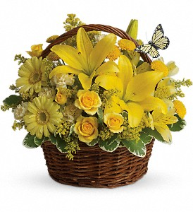 Basket Full of Wishes in Thorold ON, A Yellow Flower Basket