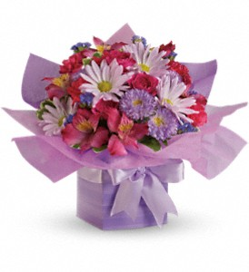 Teleflora's Lovely Lavender Present in Santa Claus IN, Evergreen Flowers & Decor