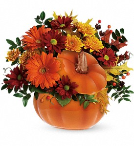 Teleflora's Country Pumpkin in Salem MA, Flowers by Darlene/North Shore Fruit Baskets