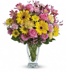 Teleflora's Dazzling Day Bouquet in The Woodlands TX, Rainforest Flowers
