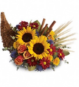 Classic Cornucopia in Yonkers NY, Beautiful Blooms Florist