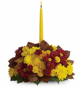Harvest Happiness Centerpiece in Creedmoor NC, Gil-Man Florist Inc.