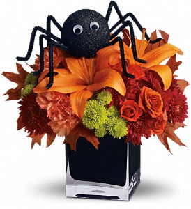 Teleflora's Spooky Sweet in Fayetteville NC, Always Flowers By Crenshaw