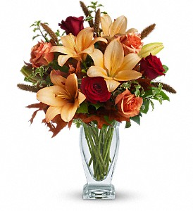 Teleflora's Fall Fantasia in Round Rock TX, Heart & Home Flowers