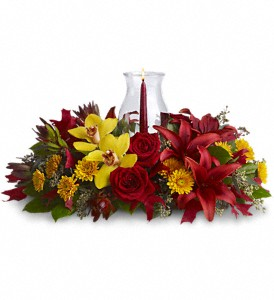 Glow of Gratitude Centerpiece in Augusta GA, Ladybug's Flowers & Gifts Inc