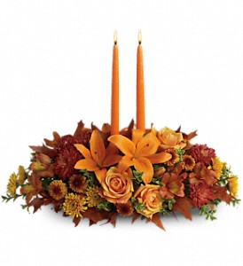 Family Gathering Centerpiece in Santee CA, Candlelight Florist