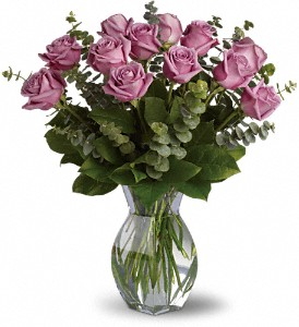 Lavender Wishes - Dozen Premium Lavender Roses in Warrenton NC, Always-In-Bloom Flowers & Frames