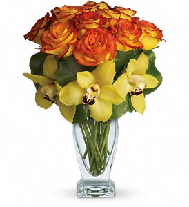 Teleflora's Aloha Sunset in North Syracuse NY, The Curious Rose Floral Designs