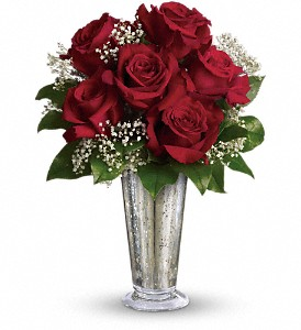 Teleflora's Kiss of the Rose in Rockford IL, Crimson Ridge Florist