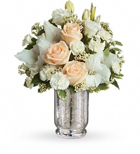 Teleflora's Recipe for Romance in Dubuque IA, New White Florist