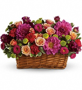 Burst of Beauty Basket in Largo FL, Rose Garden Florist