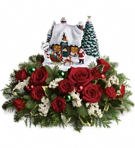 Thomas Kinkade Santa's Workshop by Teleflora in Woodbridge VA, Brandon's Flowers