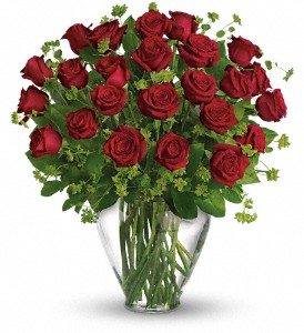 My Perfect Love - Long Stemmed Red Roses in Essex ON, Essex Flower Basket