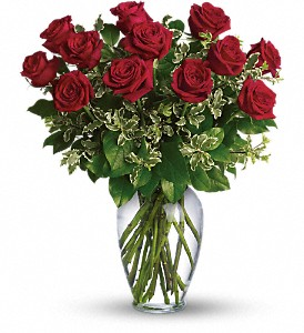Always on My Mind - Long Stemmed Red Roses in Innisfail AB, Lilac & Lace Floral Design