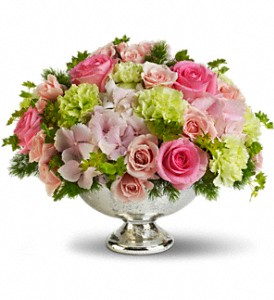 Teleflora's Garden Rhapsody Centerpiece in North Syracuse NY, The Curious Rose Floral Designs