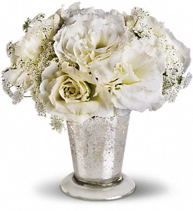 Teleflora's Angel Centerpiece in Dubuque IA, New White Florist