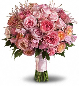 Pink Rose Garden Bouquet in Lewistown MT, Alpine Floral Inc Greenhouse