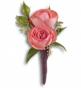 Rose Simplicity Boutonniere in Jamison PA, Mom's Flower Shoppe