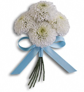 Country Romance Boutonniere in Murrieta CA, Michael's Flower Girl