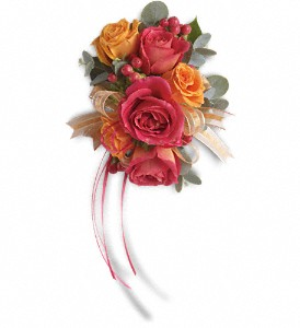 Sunset Beauty Wristlet in Yonkers NY, Beautiful Blooms Florist