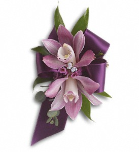 Exquisite Orchid Wristlet in Muskegon MI, Barry's Flower Shop