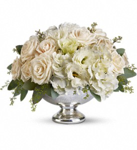 Teleflora's Park Avenue Centerpiece in Murrieta CA, Michael's Flower Girl