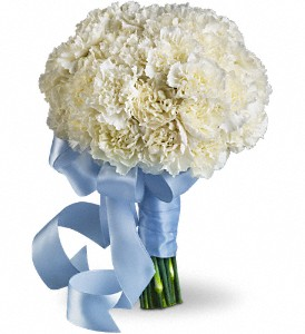 Sweet White Bouquet in Fort Worth TX, TCU Florist