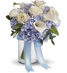 Love in Blue Bouquet in Santa Monica CA, Edelweiss Flower Boutique