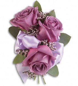 Soft Lavender Corsage in North York ON, Ivy Leaf Designs
