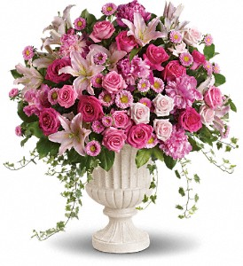 Passionate Pink Garden Arrangement in Hilton NY, Justice Flower Shop