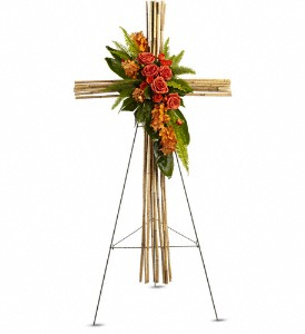 River Cane Cross in New York NY, Fellan Florists Floral Galleria