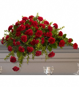 Adoration Casket Spray in Benton Harbor MI, Crystal Springs Florist