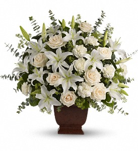 Teleflora's Loving Lilies and Roses Bouquet in Muskegon MI, Barry's Flower Shop
