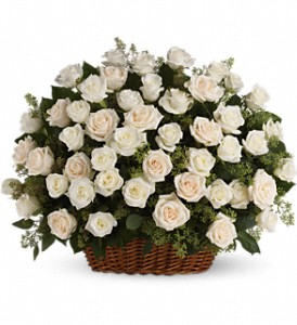 Bountiful Rose Basket in Benton Harbor MI, Crystal Springs Florist