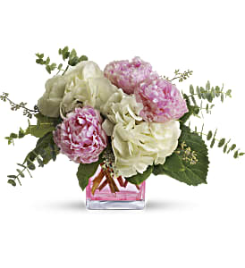 Teleflora's Pretty in Peony in Bakersfield CA, White Oaks Florist