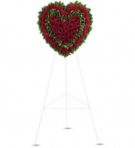 Majestic Heart in Flushing NY, Four Seasons Florists