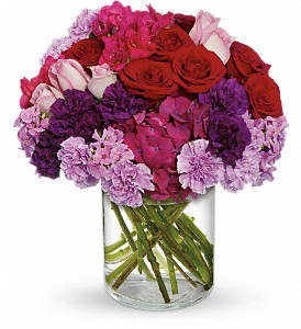 Roman Holiday in Vancouver BC, Purple Rainbow Florist