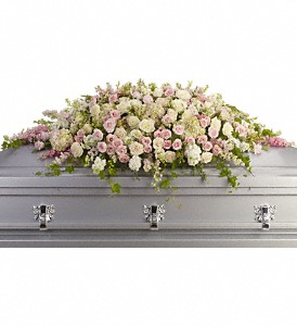 Always Adored Casket Spray in Fort Worth TX, TCU Florist