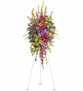 Bright and Beautiful Spray in Three Rivers MI, Ridgeway Floral & Gifts