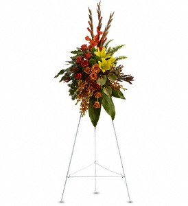 Tropical Tribute Spray in Orland Park IL, Bloomingfields Florist