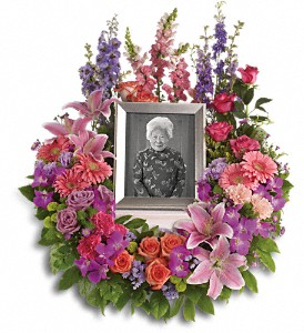 In Memoriam Wreath in Yonkers NY, Beautiful Blooms Florist