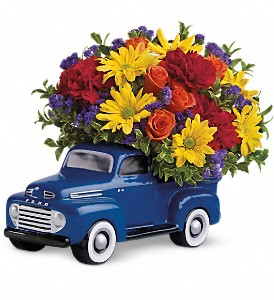 Teleflora's '48 Ford Pickup Bouquet in Bloomington IL, Forget Me Not Flowers