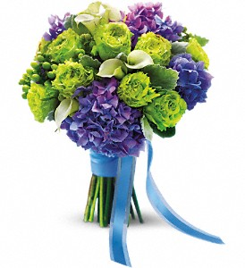 Luxe Lavender and Green Bouquet in Santa Monica CA, Edelweiss Flower Boutique