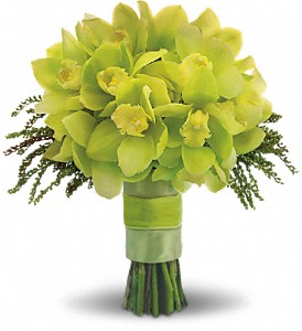 Green Glee Bouquet in Hillsborough NJ, B & C Hillsborough Florist, LLC.