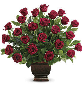 Teleflora's Rose Tribute in Muscle Shoals AL, Kaleidoscope Florist & Gifts