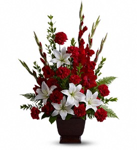 Teleflora's Tender Tribute in Mount Morris MI, June's Floral Company & Fruit Bouquets