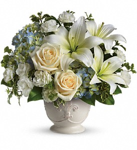 Beautiful Dreams by Teleflora in Dubuque IA, New White Florist