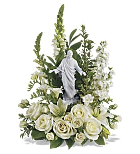 Teleflora's Garden of Serenity Bouquet in Columbus IN, Fisher's Flower Basket